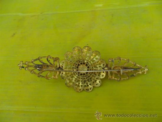Joyeria: broche antiguo dorado y cristales - Foto 3 - 38731490