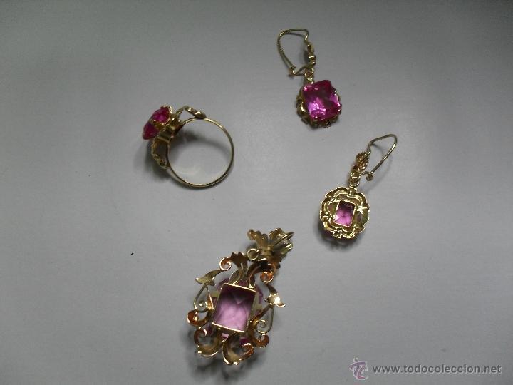 Joyeria: colgante-pendientes y sortija oro de ley - Foto 3 - 39488794
