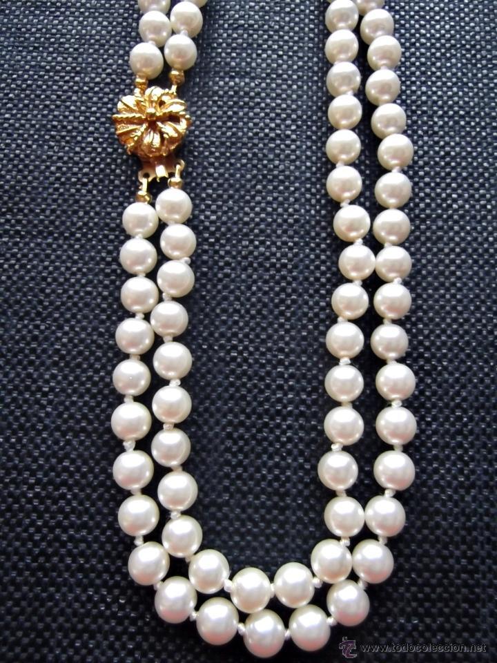 1f0e67361541 Precioso collar perlas japonesas dos vueltas - Vendido en Venta ...