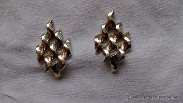 Joyeria: Magnificos pendientes hechos en eslavones de plata de ley 925 y baño en oro de 18 k ( firmados ) - Foto 3 - 40612853