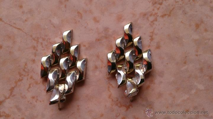 Joyeria: Magnificos pendientes hechos en eslavones de plata de ley 925 y baño en oro de 18 k ( firmados ) - Foto 7 - 40612853