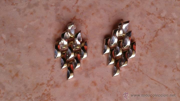 Joyeria: Magnificos pendientes hechos en eslavones de plata de ley 925 y baño en oro de 18 k ( firmados ) - Foto 8 - 40612853