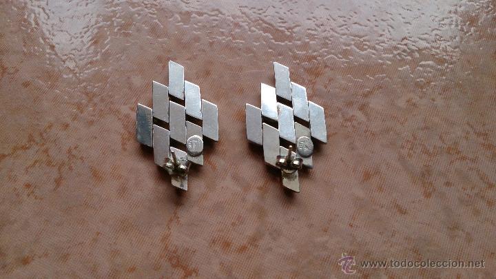 Joyeria: Magnificos pendientes hechos en eslavones de plata de ley 925 y baño en oro de 18 k ( firmados ) - Foto 10 - 40612853