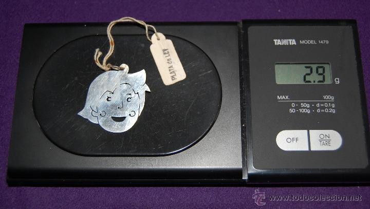 Joyeria: Antiguo Colgante de Plata de Ley sin usar, Heidi. Dibujos animados. AÑOS 70. - Foto 2 - 131172993