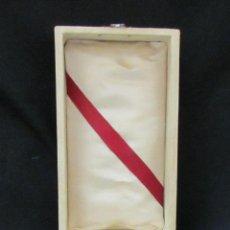 Joyeria: ESTUCHE JOYERÍA FIN. XIX PRIN. S. XX JOYERO DE COIMBRA CON ETIQUETA. Lote 42034299