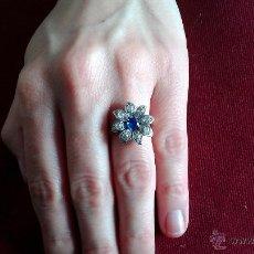 Joyeria - anillo art deco zafiro y diamantes - 42749147