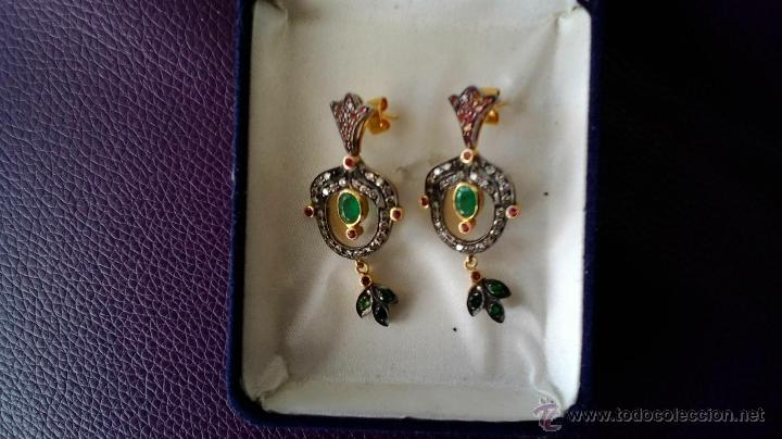 Joyeria: pendientes isabelinos con piedras preciosas - Foto 4 - 42881265