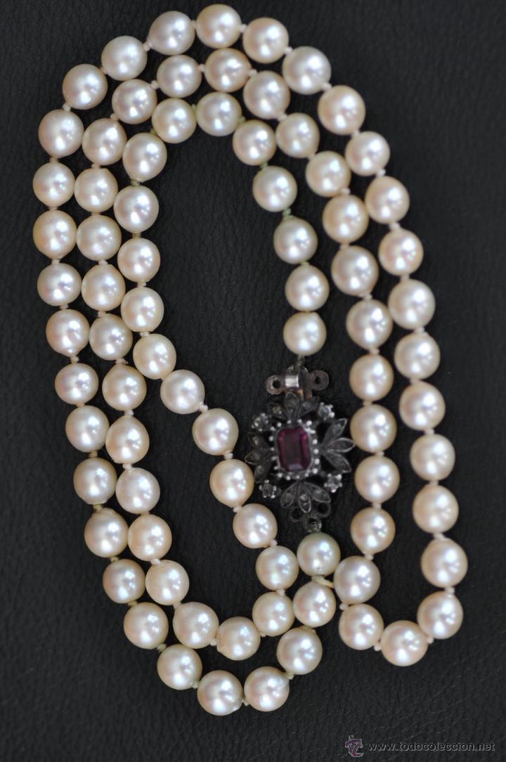 940684444f90 Antiguo collar de perlas autenticas con broche - Vendido en Venta ...