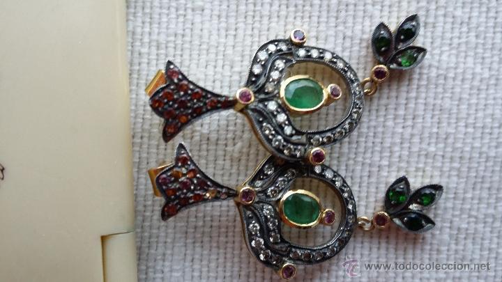 Joyeria: pendientes isabelinos con piedras preciosas - Foto 5 - 42881265