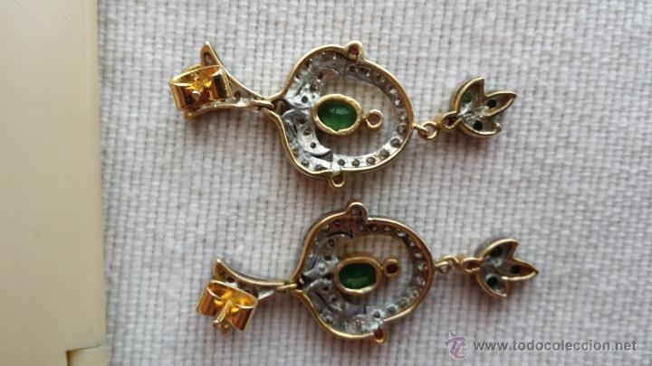 Joyeria: pendientes isabelinos con piedras preciosas - Foto 6 - 42881265