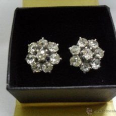 Joyeria - pendientes antiguos oro blanco y diamantes - 43703448