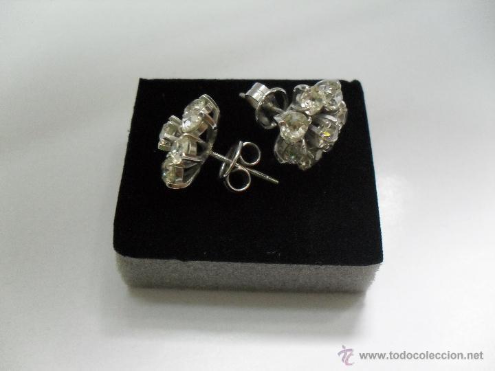 Joyeria: pendientes antiguos oro blanco y diamantes - Foto 3 - 43703448
