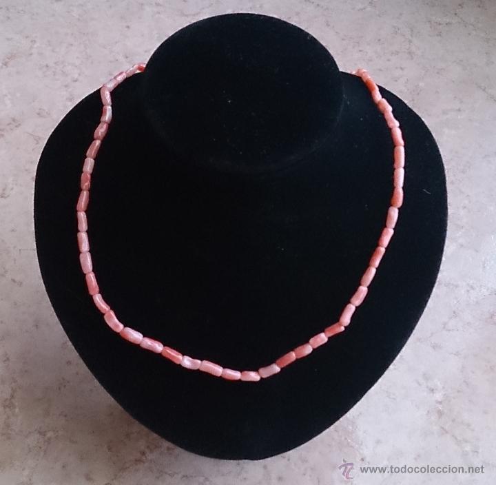 Joyeria: Elegante gargantilla vintage en coral piel de angel autentico . - Foto 9 - 44214091