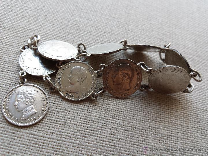 81ce10b02760 Pulsera de monedas de plata - alfonso xii y xii - Vendido en Subasta ...