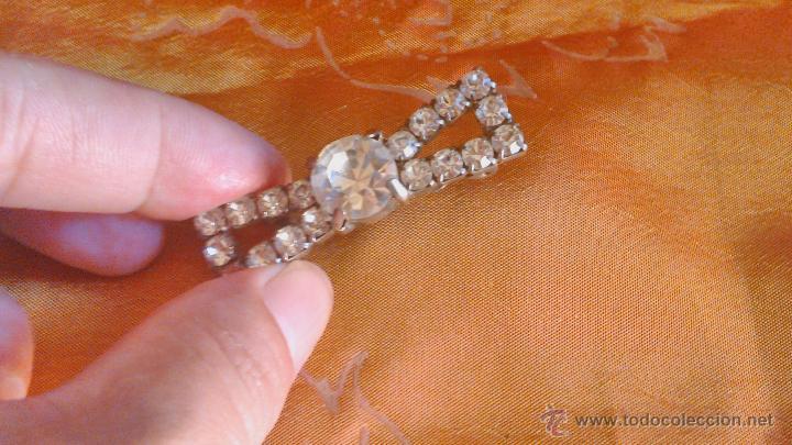Joyeria: Precioso broche vintage,forma de lazo con pedrería. Años 40/50 - Foto 3 - 45231746