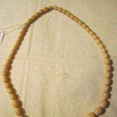 Joyeria - Collar con cuentas de marfil, para ensartar. Largo doblado aprox. 33 cms. - 45244478