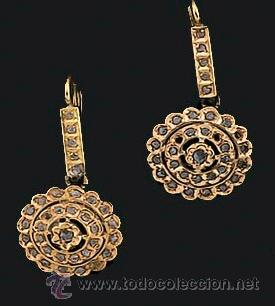 e1804c61f4a9 Pendientes siglo xix oro y diamantes - Vendido en Venta Directa ...
