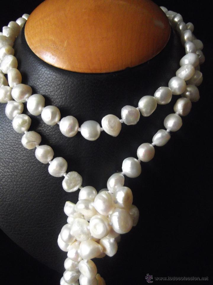 edaff871329e Extraordinario collar de perlas de rio blancas - Vendido en Venta ...