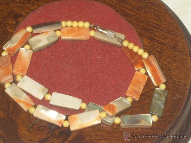 Joyeria: Vintage collar de nacar,madre perla colores variados de salmon - Foto 4 - 45919680
