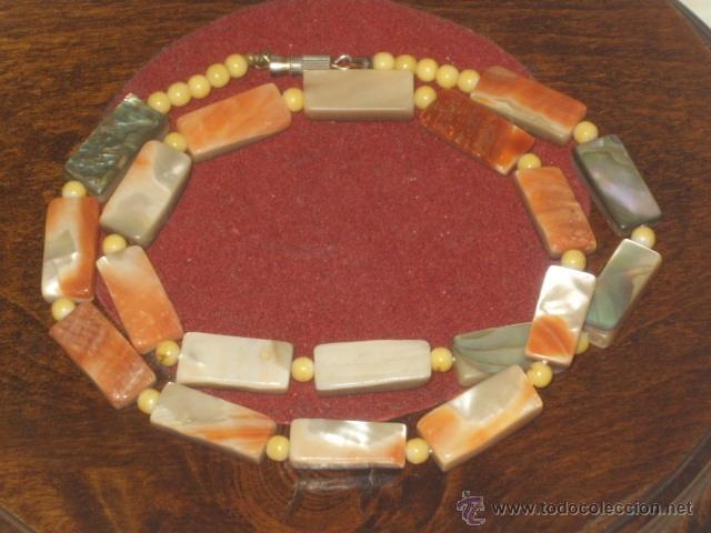 Joyeria: Vintage collar de nacar,madre perla colores variados de salmon - Foto 5 - 45919680