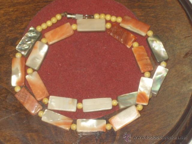 Joyeria: Vintage collar de nacar,madre perla colores variados de salmon - Foto 6 - 45919680