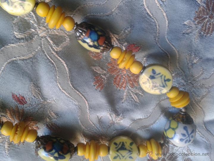 Joyeria: Antiguo Collar énico tibetano o nepali amuleto con caracteres chinos - Foto 2 - 46953828
