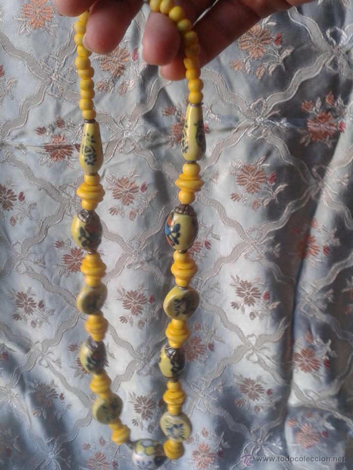 Joyeria: Antiguo Collar énico tibetano o nepali amuleto con caracteres chinos - Foto 3 - 46953828