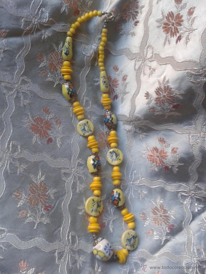 Joyeria: Antiguo Collar énico tibetano o nepali amuleto con caracteres chinos - Foto 4 - 46953828