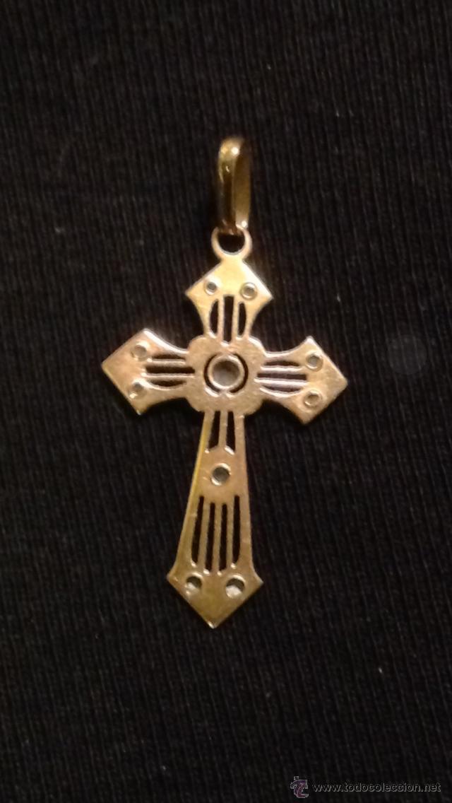Joyeria: Antigua cruz modernista de oro y diamantes rosas. - Foto 2 - 47826479
