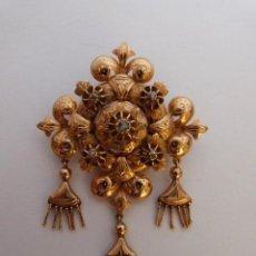Joyeria: ANTIGUO BROCHE S.XIX REALIZADO EN ORO DE 18K Y DIAMANTES NATURALES. Lote 48387567