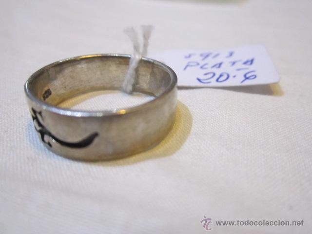 Joyeria: Anillo de plata con salamandra. 19.5 mm. diámetro. 5,7g - Foto 2 - 48429808