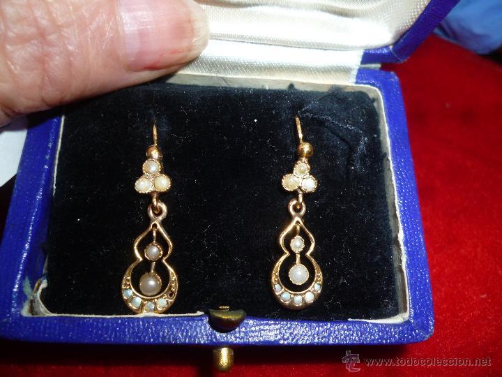 34ee27dba450 pendientes antiguos de oro con perlas de aljofa - Comprar Pendientes ...