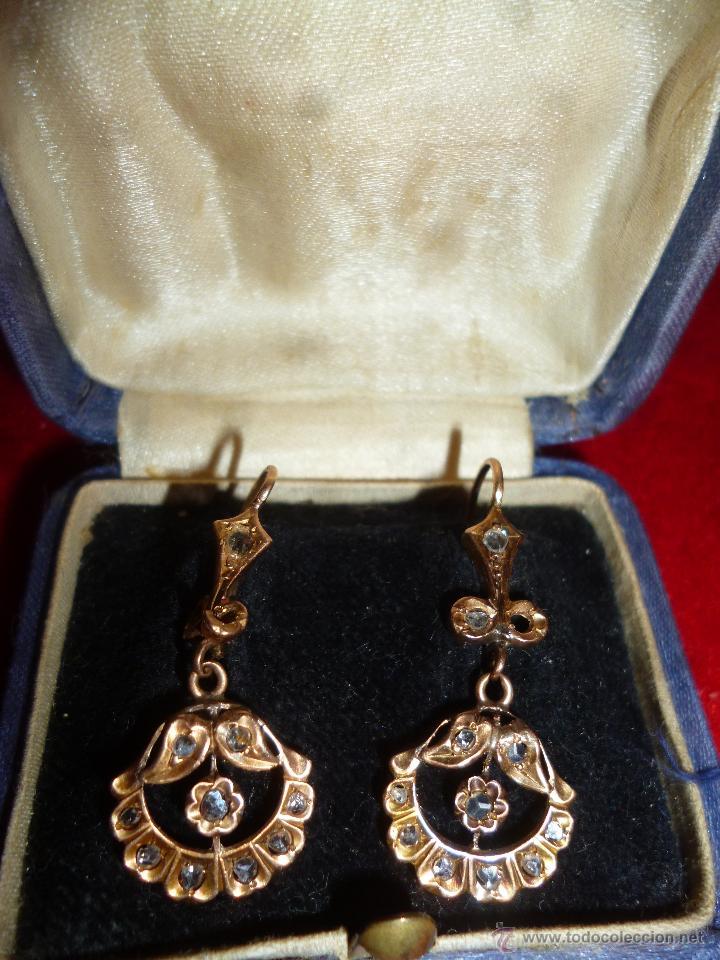021b4e587ee8 Antiguos pendientes siglo xix oro bajo y brilla - Vendido en Venta ...
