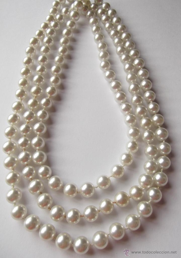 73b5be7aeb0e Collar de perlas cultivadas muy largo