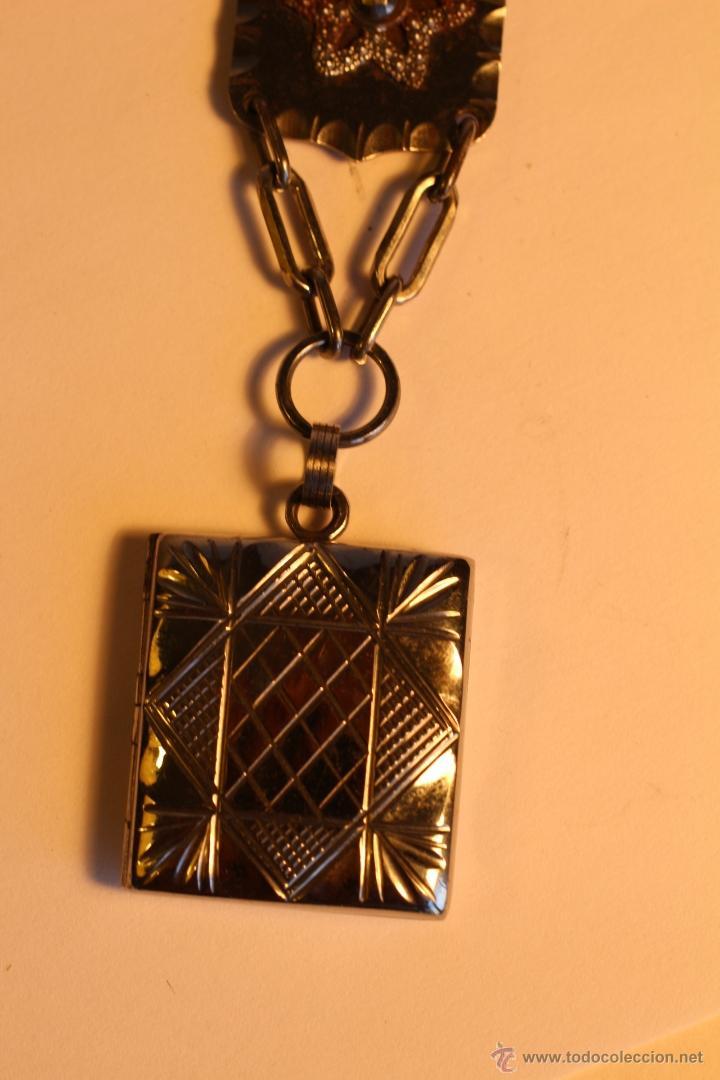 Joyeria: Antiguo colgante metalico para fotografía art deco - Foto 2 - 49436242