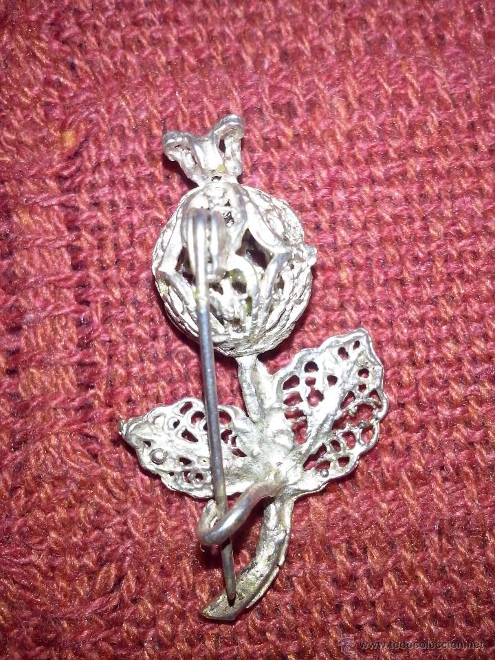 Joyeria: broche en plata con tres piedras rojas - Foto 2 - 50270034