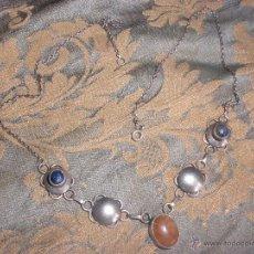 Jewelry - MÁGNÍFICA GARGANTILLA VINTAGE EN PLATA DE MEXICO Y CABUJONES DE LAPISLAZULI - 50744461
