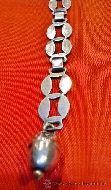 Joyeria: Precioso broche de capa antiguo con cadena rematado con bellota. - Foto 2 - 51257211