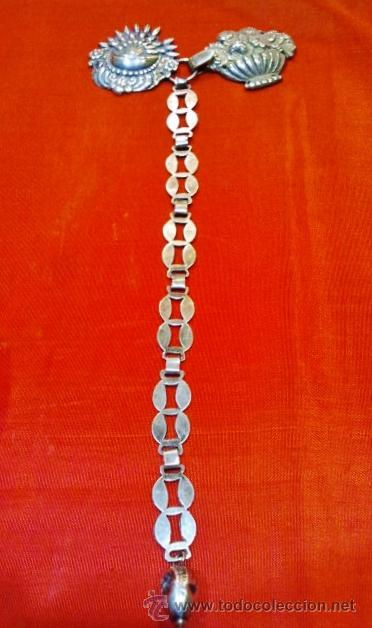 Joyeria: Precioso broche de capa antiguo con cadena rematado con bellota. - Foto 3 - 51257211