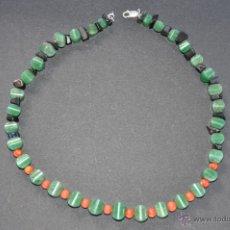 Jewelry - JADEITA GARGANTILLA CON AUTENTICA JADEITA Y CORAL , VINTAGE - 51528041