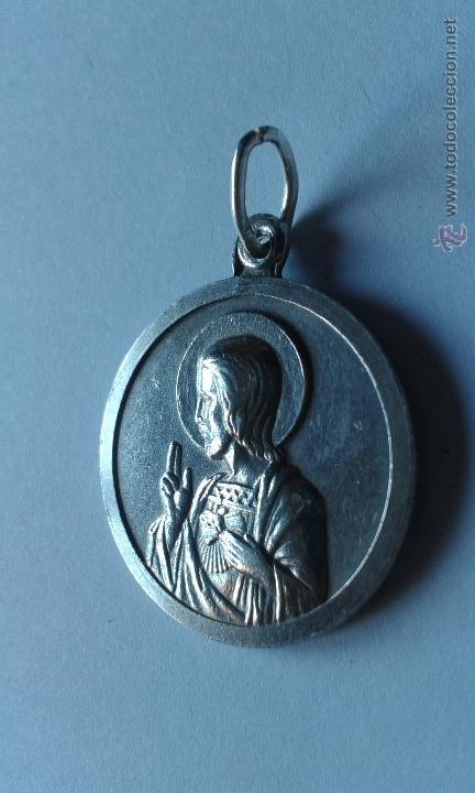 a130fe0ca43 Medalla escapulario de plata de ley de sagrado corazon de jesus virgen del  carmen jpg 432x720