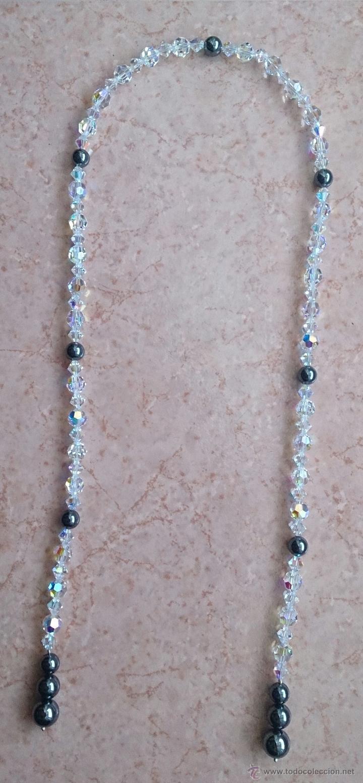 Joyeria: Original collar de piedras swarovski y hematites . - Foto 2 - 52465210