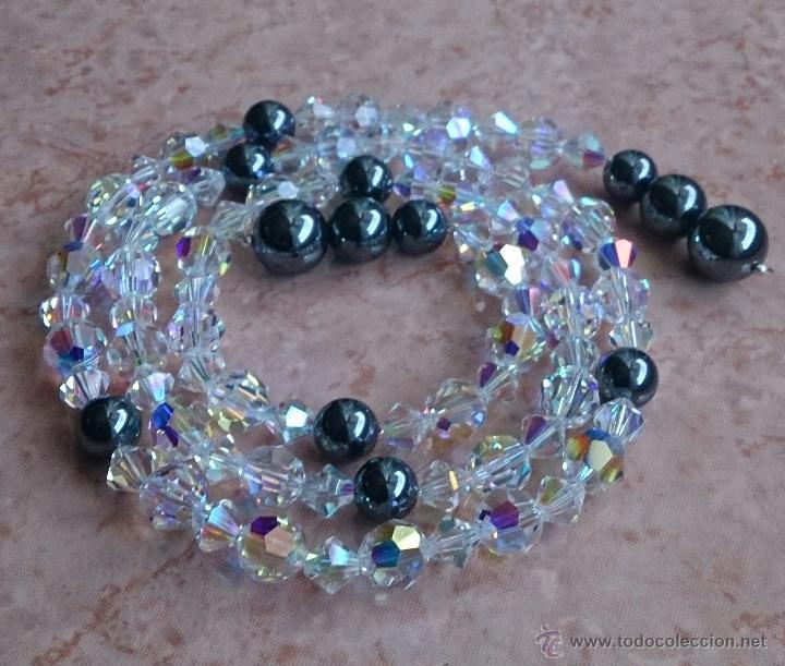 Joyeria: Original collar de piedras swarovski y hematites . - Foto 3 - 52465210