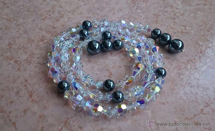 Joyeria: Original collar de piedras swarovski y hematites . - Foto 4 - 52465210