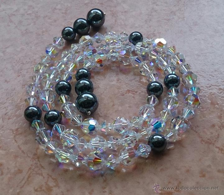 Joyeria: Original collar de piedras swarovski y hematites . - Foto 5 - 52465210