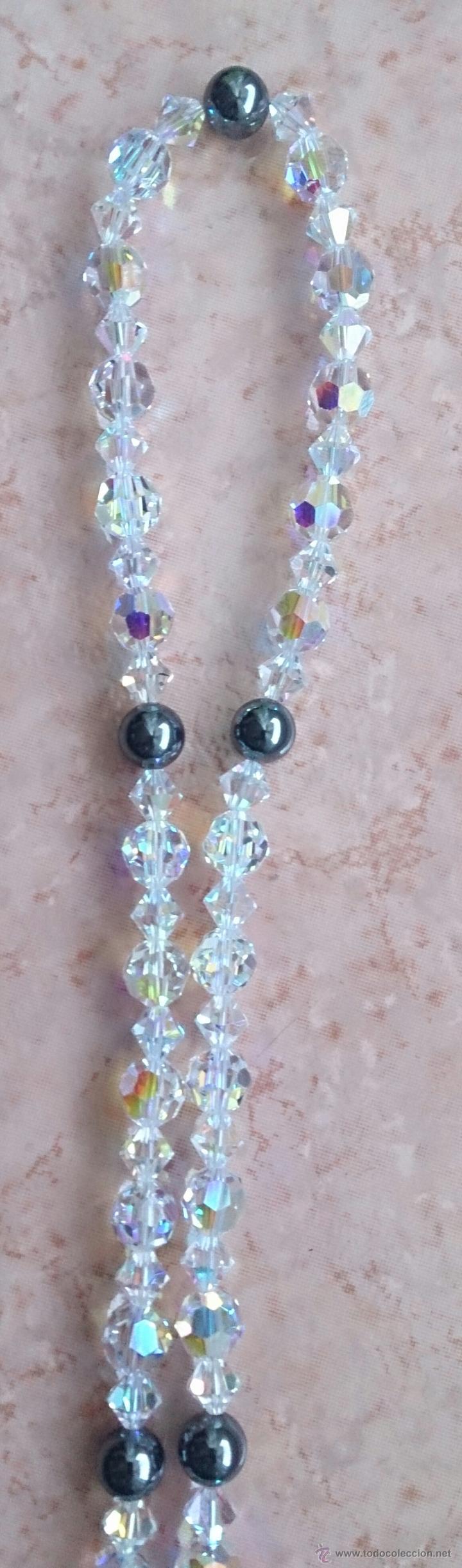 Joyeria: Original collar de piedras swarovski y hematites . - Foto 6 - 52465210