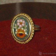 Joaillerie: ANILLO VENECIANO CON MOSAICO FLORAL DE CRISTALES DE MURANO.AJUSTABLE.. Lote 159732529