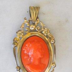 Jewelry - colgante guardapelo con baño de oro camafeo siglo XIX - 52803462