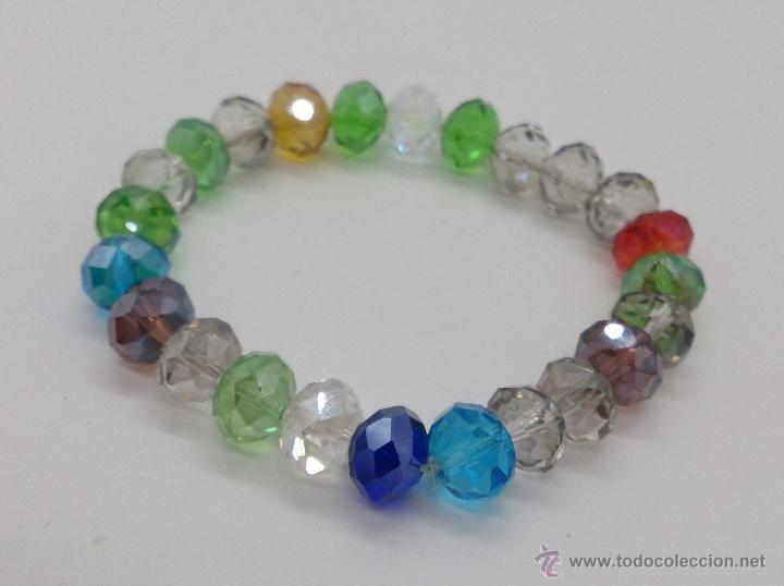 Joyeria: Pulsera de cuentas de cristal austríaco facetado en multiples colores . - Foto 2 - 53268596