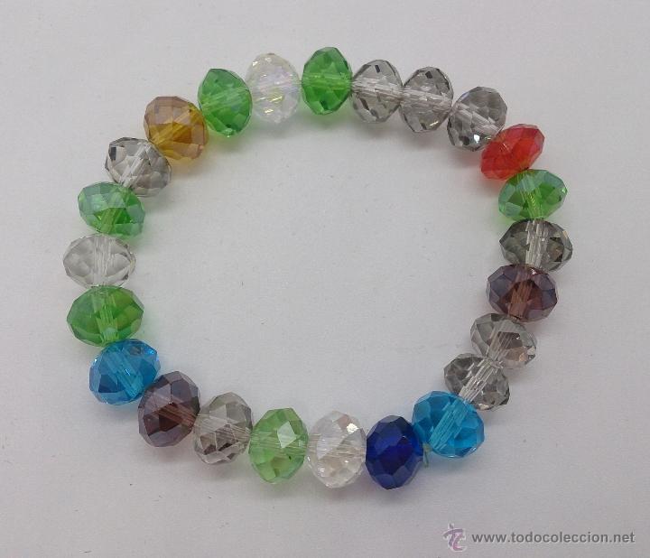 Joyeria: Pulsera de cuentas de cristal austríaco facetado en multiples colores . - Foto 3 - 53268596